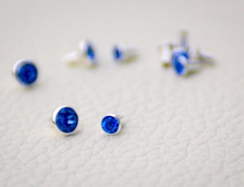 Swarovskistein Sapphire (blau)