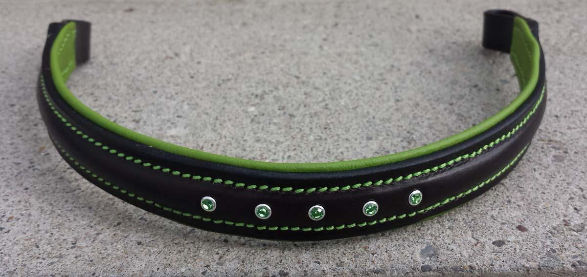 Stirnband mit Strasssteine, Swarovski Peridot (grün)